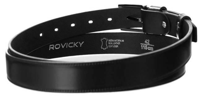 Pasek męski czarny Rovicky  PRW-08-N