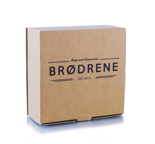 Pasek męski do spodni parciany Brodrene P08 granatowo-brązowy