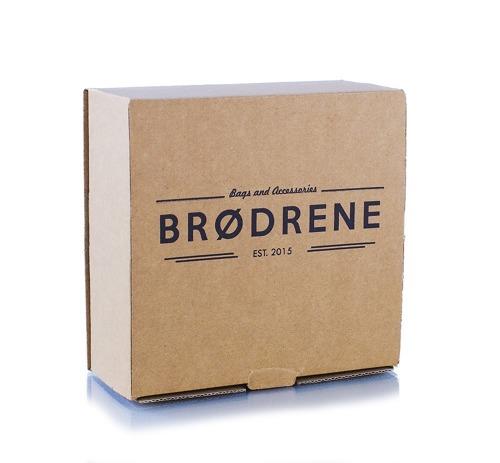 Pasek męski do spodni parciany Brodrene P08S granatowo-brązowy