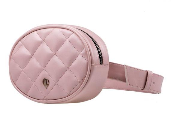 Pikowana nerka damska BN01 różowa