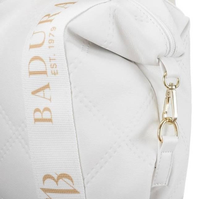 Pikowany shopper damski biały Badura T_D206PIK_BIA_CD