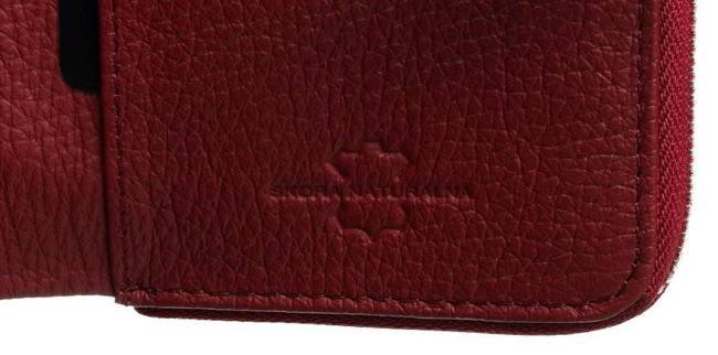 Pionowy portfel damski czerwień Badura B-76116P-SBR