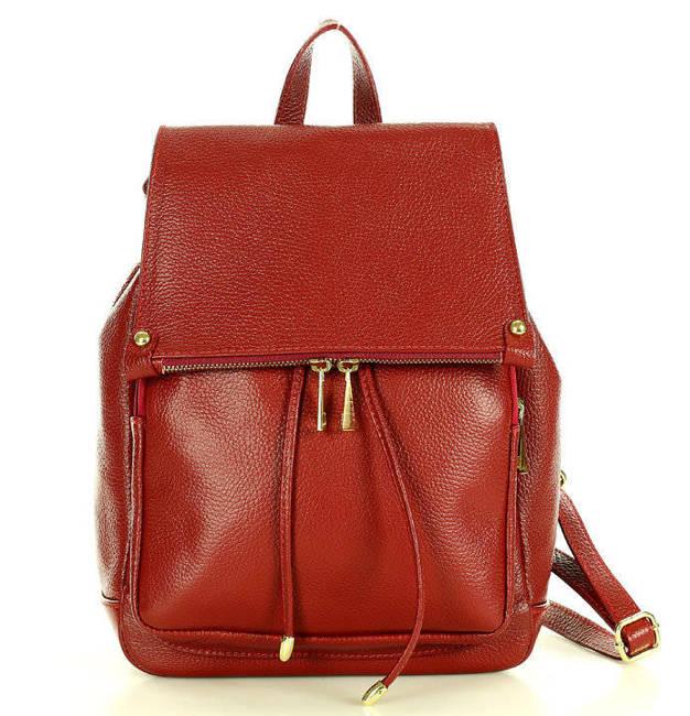 Plecak damski Marco Mazzini czerwony pl32g