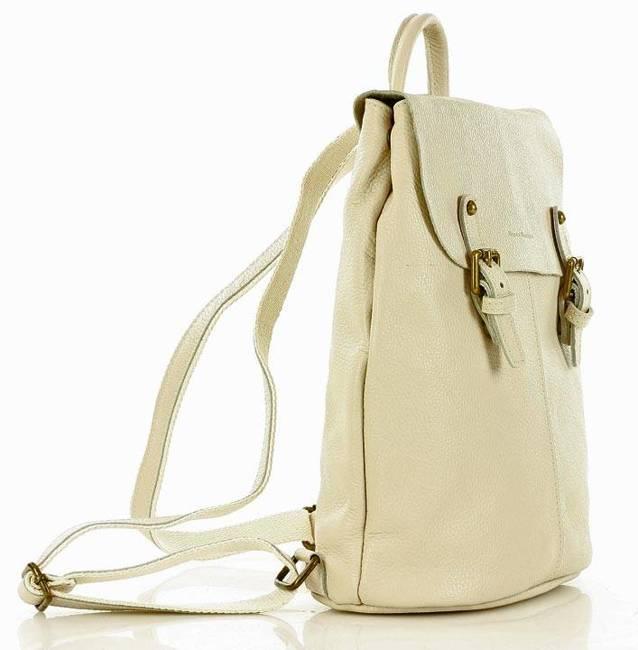 Plecak damski beżowy MARCO MAZZINI PL57a