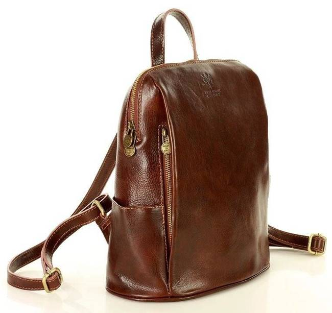 Plecak damski brązowy MARCO MAZZINI pl56d