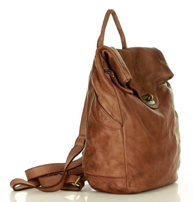 Plecak damski brązowy MARCO MAZZINI v71f