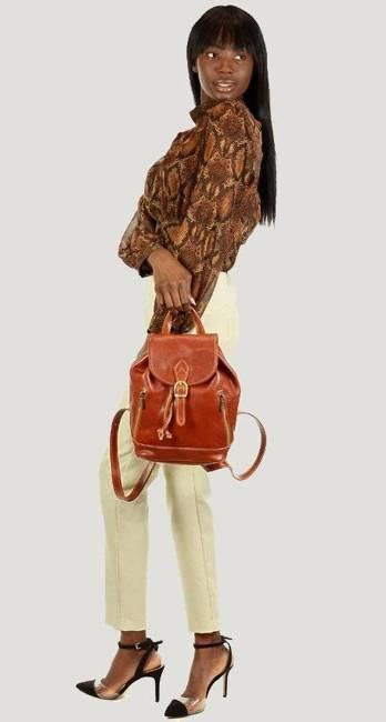 Plecak damski camel MARCO MAZZINI pl33a