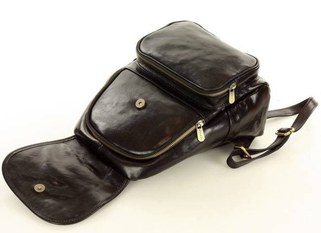 Plecak damski czarny MARCO MAZZINI PL62a