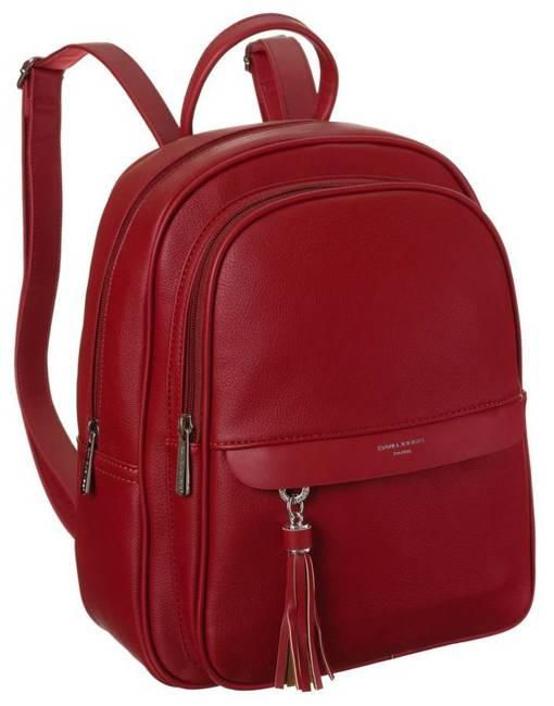 Plecak damski czerwony David Jones 6313-2 RED
