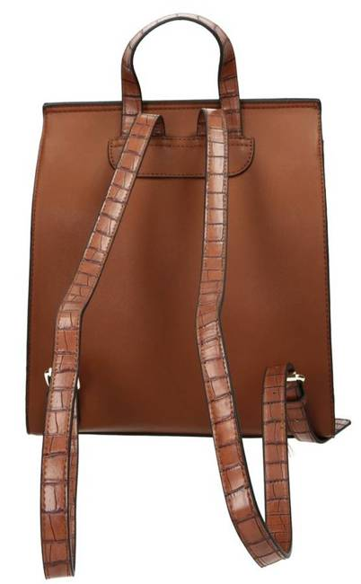 Plecak damski elegancki eko Nobo brązowy J0290