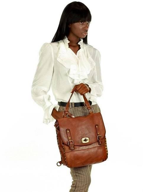 Plecak damski karmel torebka MARCO MAZZINI v106a