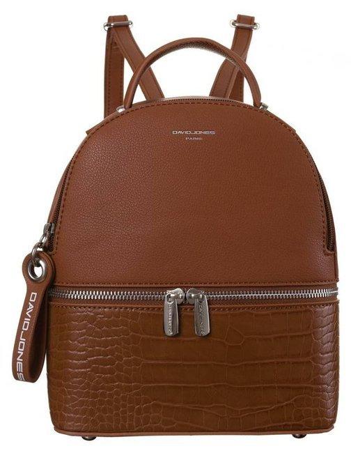 Plecak damski koniakowy David Jones 6269-1 COGNAC