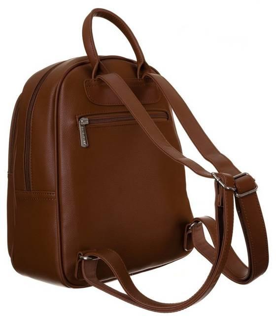 Plecak damski koniakowy  David Jones  6313-2 COGNAC