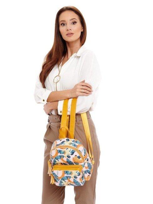 Plecak damski miejski eko skóra żółty NOBO  NBAG-I1180-CM04