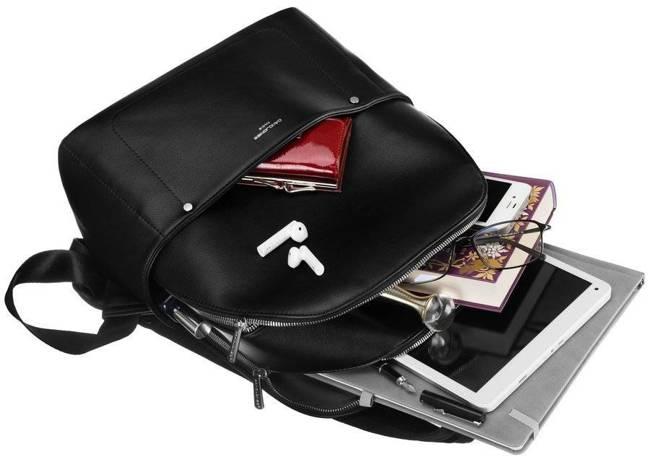 Plecak damski, młodzieżowy czarny  David Jones 797705 BLACK