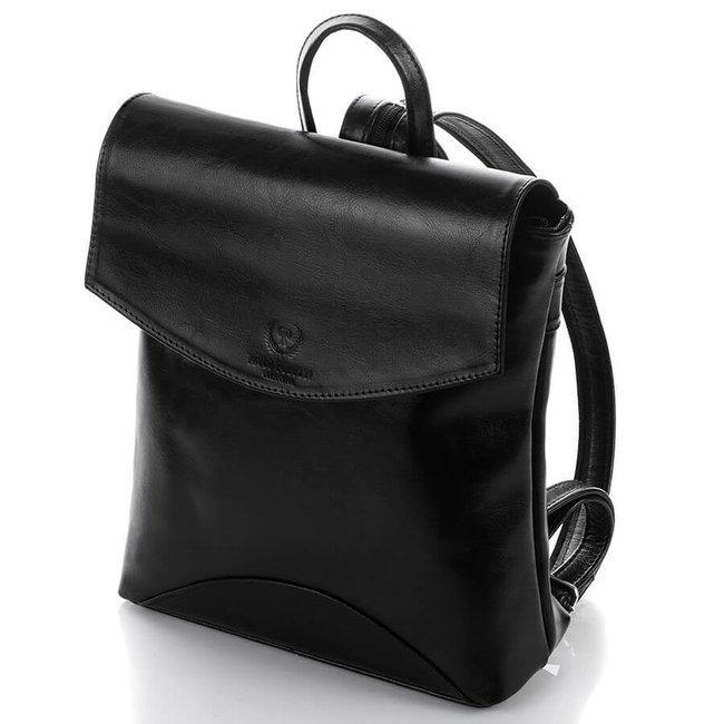 Plecak damski skórzany Paolo Peruzzi Z-03-PP czarny