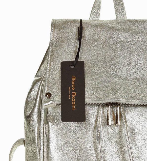 Plecak damski srebrny MARCO MAZZINI pl32p