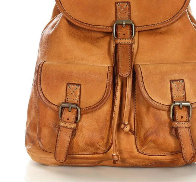 Plecak damski vintage kamelowy MARCO MAZZINI v180b