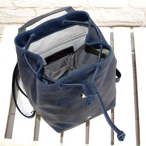 Plecak skórzany DAAG FUNKY GO! 26 granatowy