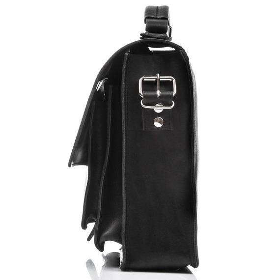 Plecak torba 2w1 skórzany Paolo Peruzzi S-12 czarny