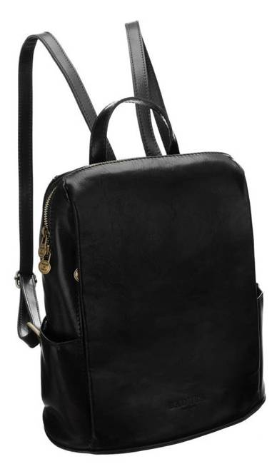Plecak w stylu vintage czarny Badura T_D187CZ_CD