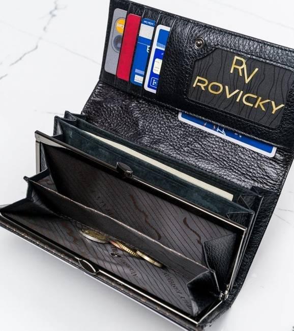 Podłużny portfel damski czarny 72401-SG BLACK