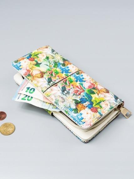Pojemny portfel damski Milano Design zielony