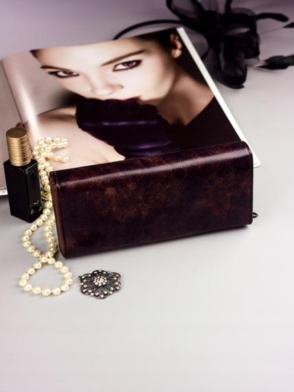 Pojemny portfel damski brązowy PX24-2