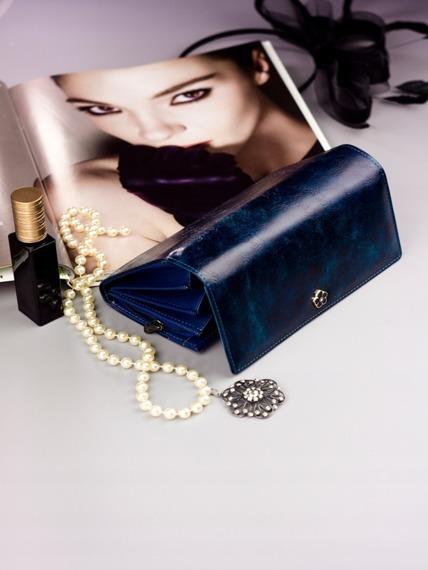 Pojemny portfel damski niebieski PX20-2