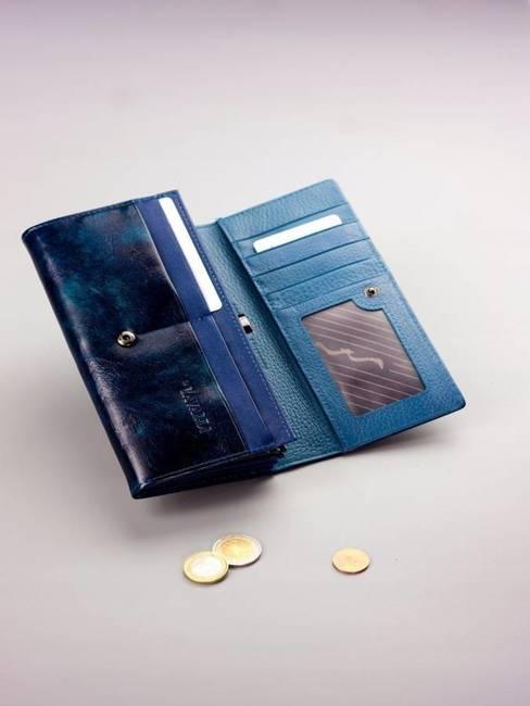 Pojemny portfel damski niebieski PX24-2