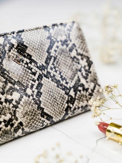 Pojemny portfel damski srebrny Milano Design