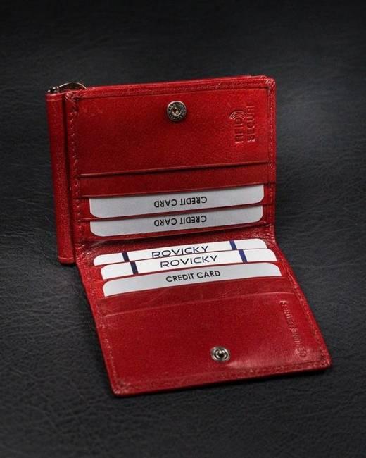 Portfel czerwony unisex Rovicky CPR-034-BAR-6644 RED