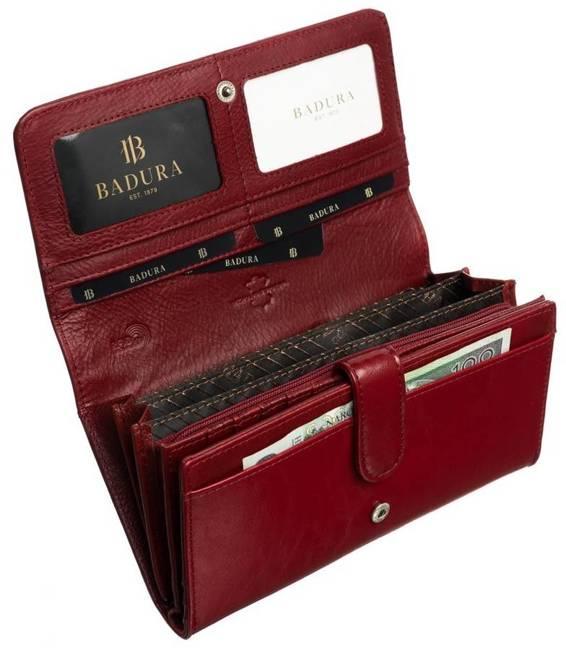 Portfel damski Badura B-43878P-BPR czerwony