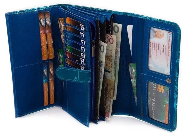 Portfel damski Lorenti niebieski 1077-CV BLUE