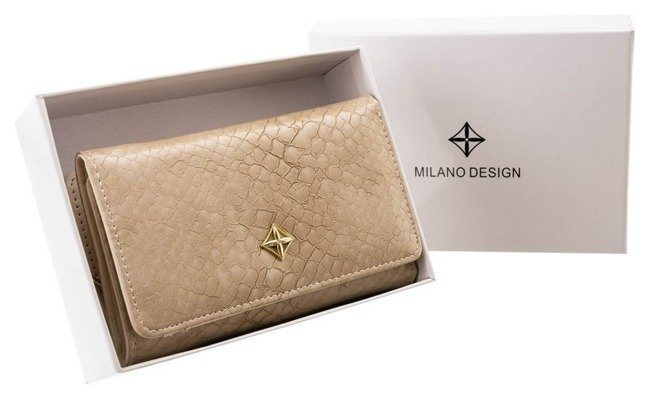 Portfel damski beżowy Milano Design SF1077-SN BEIGE
