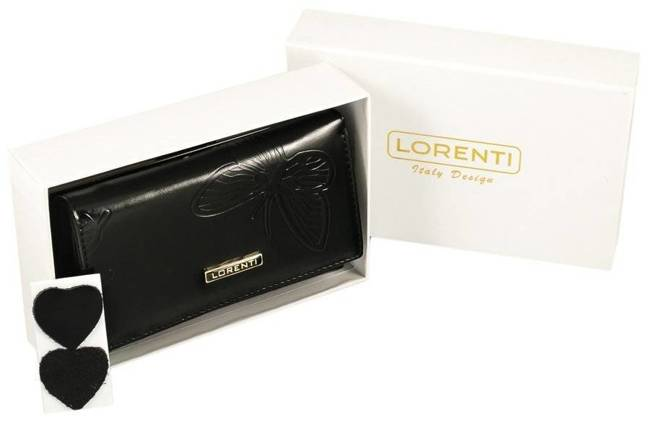 Portfel damski czarny Lorenti 55020-EBF BLACK