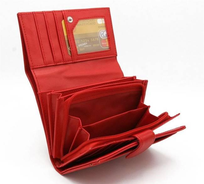 Portfel damski czerwony 309 RED 19#