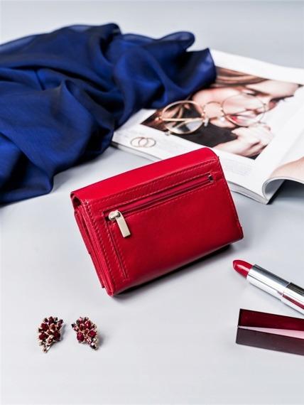 Portfel damski czerwony Cavaldi RD-02-GCL RED