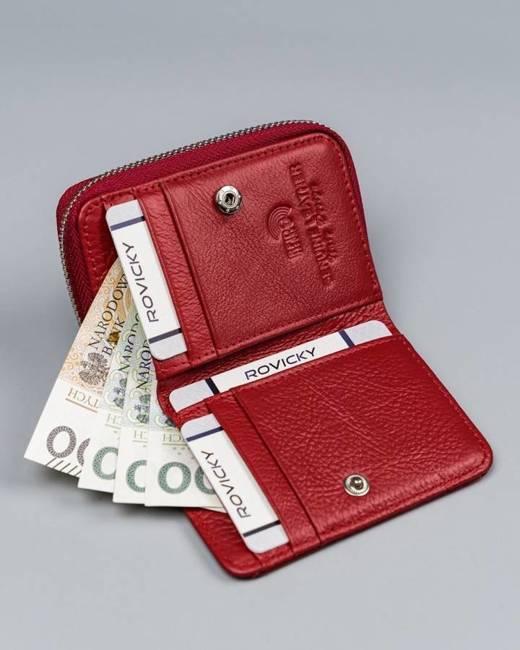 Portfel damski czerwony Lorenti 5157-RFID-BPR RED