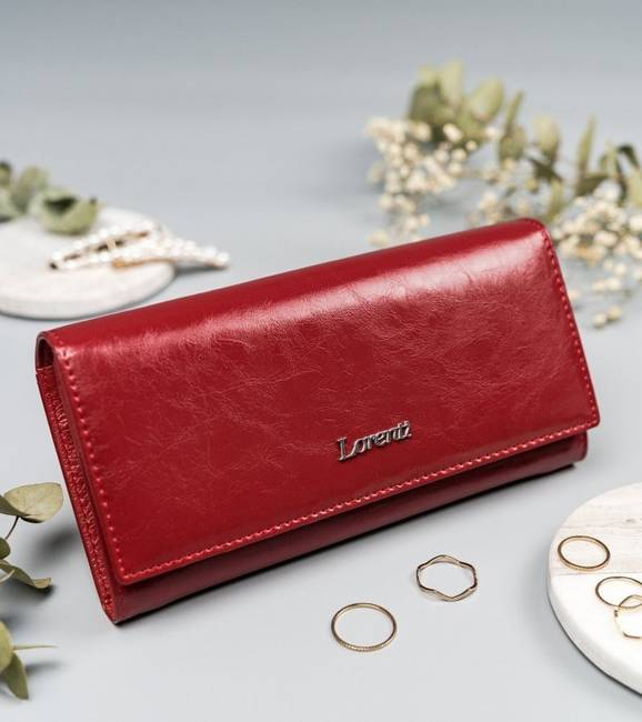 Portfel damski czerwony Lorenti 72401-RFID-BPR RED