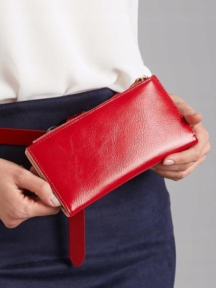 Portfel damski czerwony Milano Design K1213-ML RED
