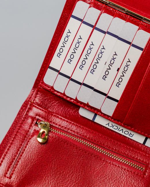 Portfel damski czerwony Milano Design SF1839-ML RED