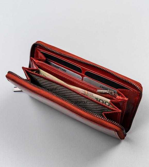 Portfel damski czerwony Rovicky CPR-8794-BAR-6880 RE