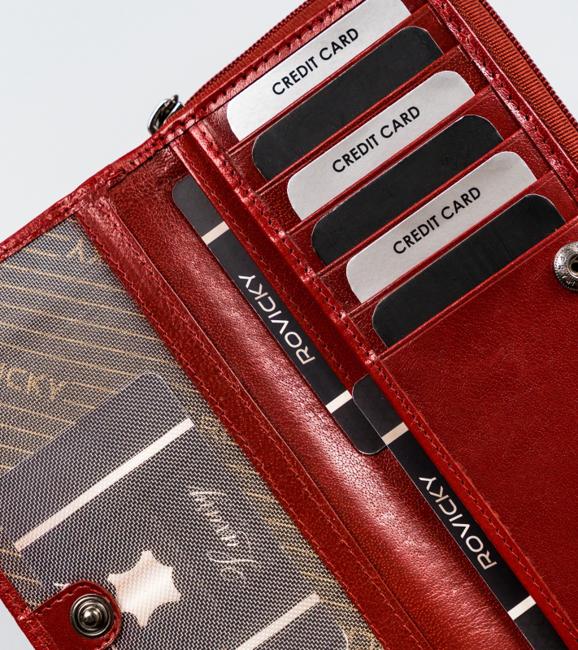 Portfel damski czerwony Rovicky CPR-8931-BAR-6903 RE
