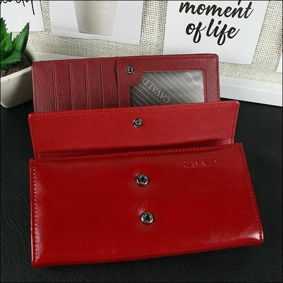 Portfel damski lakierowany czerwony Cavaldi PN22