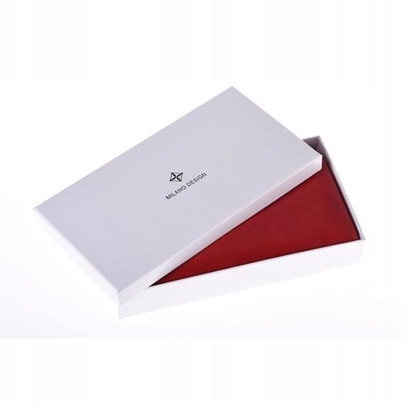 Portfel damski na zamek czerwony Milano Design SF-1821