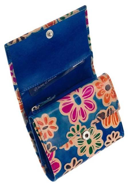 Portfel damski niebieski w kwiaty SPG-99-SHANTI BLUE