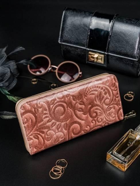Portfel damski różowy Rovicky 8807-JXW PINK