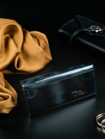 Portfel damski skórzany RFID czarny Rovicky