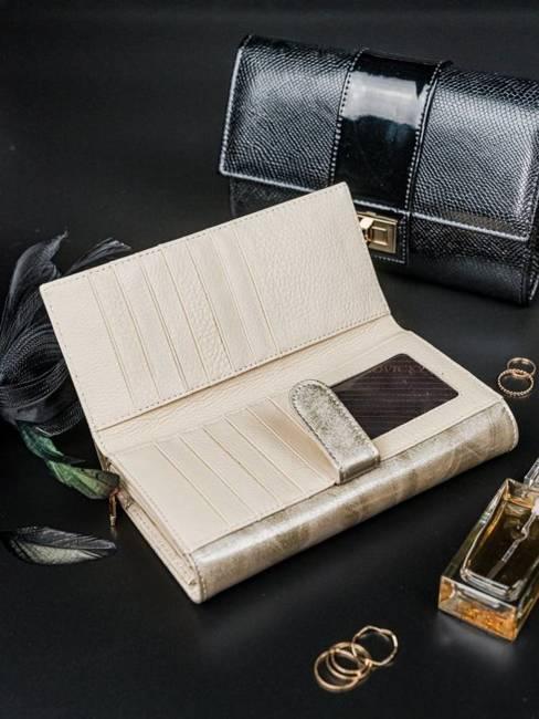 Portfel damski srebrny Rovicky 8803-YMA SILVER